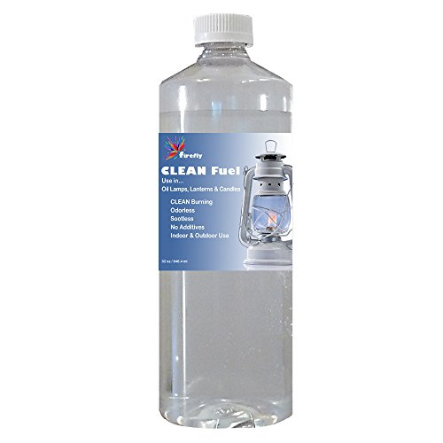 Firefly CLEAN Lamp Oil - 32 oz. - Smokeless & Virtually Odorless - Clean Burning Paraffin Alternative - use in Oil Lamps, Hurricane Lanterns and Candles - Indoors / Outdoors on Your Patio. (Tabletop Candles Hurricane Lamps compare prices)