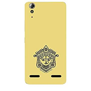 Skin4gadgets Maa Ambe Durga - Line Sketch on English Pastel Color-Khakhi Color Phone Skin for LENOVO A6000