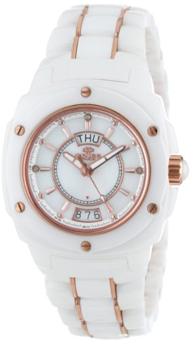 Oniss Paris Women's ON436-LRG WHT Galaxy Swiss Quartz Mother-Of-Pearl Dial Rosetone Watch