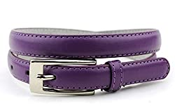 New Classy Womens Skinny Leather Belt with Shiny Buckle Many Colors S-XL (M (34