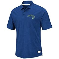 MLB Majestic Milwaukee Brewers Cooperstown Collection Infielder Polo - Royal Blue by Lee