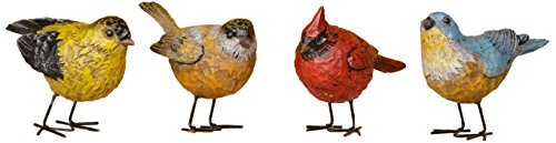 Your Hearts Delight Resin Birds Decor, 4-1/2 by 2-Inch