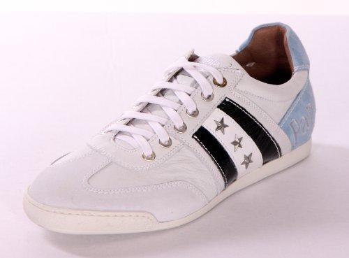 Pantofola d'Oro - Scarpe da Ginnastica Basse Uomo , Bianco (Weiß-Blau), 41 41.5 42 42.5 43