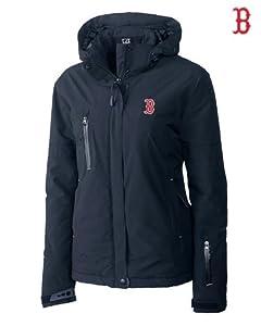 Boston Red Sox Ladies WeatherTec Sanders Jacket Navy Blue by Cutter & Buck