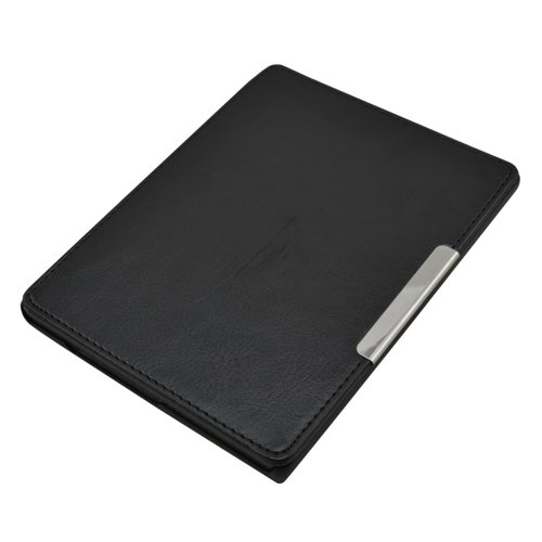 Ultra Mince Magnétique Housse étui en Cuir Coque avec en veille Pour eReader eBook Kobo Aura (NOT fit KOBO AURA HD) - Couleur Noir