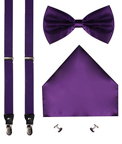 CEAJOO-Mens-Suspenders-Pre-Tied-Bow-Tie-Cufflink-and-Pocket-Hanky-Set