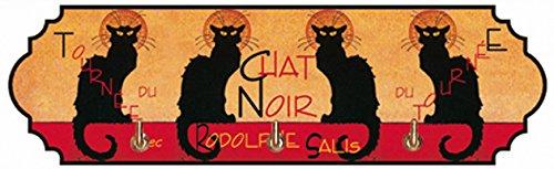 Cartexpo AT729 Alimentation Accroche Torchon Tournée du Chat Noir Métal