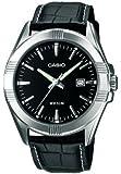 Casio - MTP-1308L-1AVEF - Montre Homme - Quartz Analogique - Cadran Noir - Bracelet cuir noir