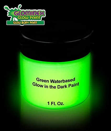 Cool Glow Glominex Glow in the Dark Green Face and Body Paint 1 Oz. Jar by CoolGlow [並行輸入品]