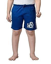 Punkster Grey Melange Cotton Shorts For Boys