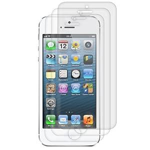 3x Displayschutzfolie MATT und ENTSPIEGELND mit Anti-Fingerabdruckeffekt für Apple iPhone 5 / 5S / 5C - PREMIUMQUALITÄT von kwmobile