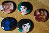 Set of 5 BRAND NEW Amelie One Inch Buttons / Pins