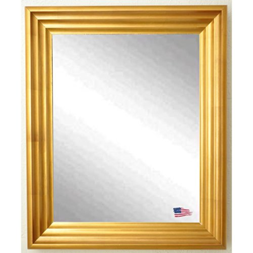 American Made Rayne Vintage Gold Wall Mirror, 31.5 X 37.5 front-405685