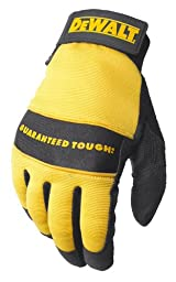 Dewalt DPG20XL All Purpose Synthetic Leather Palm Spandex Back Velcro Wrist Work Glove, X-Large