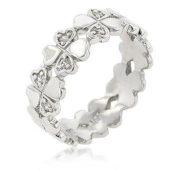 K Design Clover Hearts Ring Band