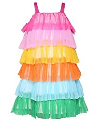 Chipchop Girls' Dress (WFGD0026M_Multi-Coloured_7-8 Years)