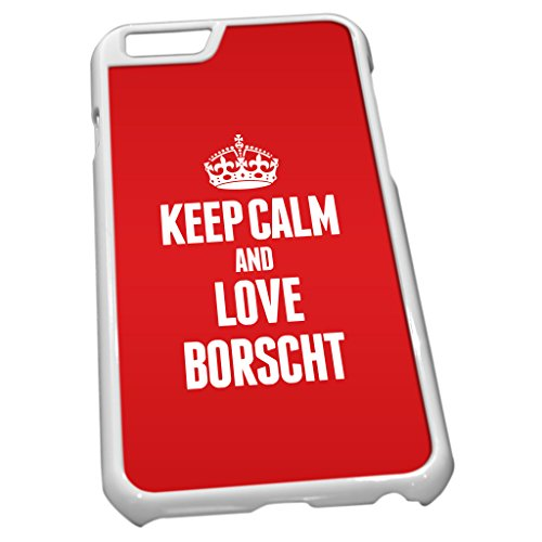 Blanc Coque pour iPhone 60845Rouge Keep Calm and Love Bortsch