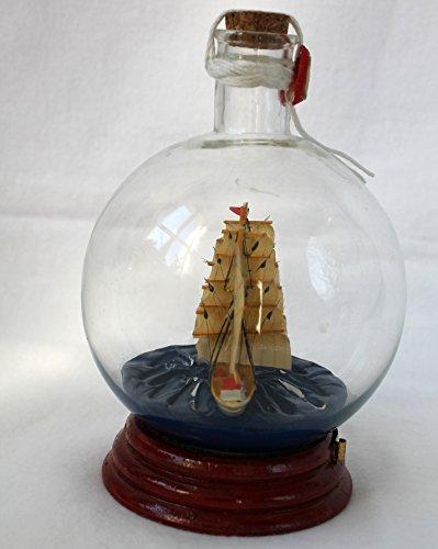 Ship in Bottle Gorch Fock Ship 17 x 11 CM Round