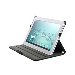 Acase ACS-1002SLBLK-SX3 Samsung Galaxy Tab 2 10.1 Case - High Quality Premium Slim Leather Folio with built-in Stand (Black)