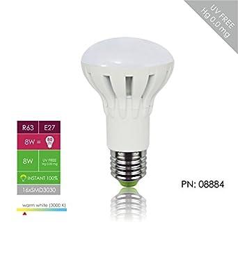 WHITENERGY® | E27 R63 | LED Lampe | 8W | 640 lm | Ersetzt 80W | Warm-Weiß | SMD LED Leuchtmittel - 160° Abstrahlwinkel | 230v