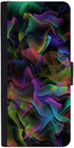 Snoogg Colourful Smoke 2431 Graphic Snap On Hard Back Leather + Pc Flip Cover...