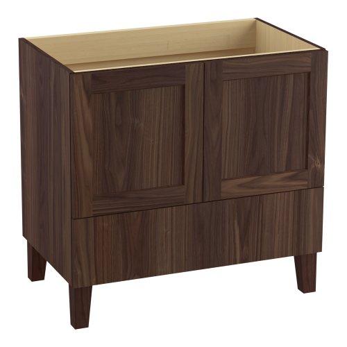 Kohler K-99532-Lg-1We Poplin 36-Inch Vanity With Furniture Legs, 2 Doors And 1 Drawer, Terry Walnut front-630557