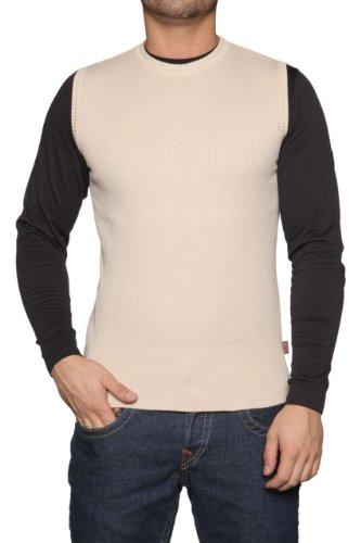 Belstaff Sweater Vest YORK, Color: Cream, Size: L