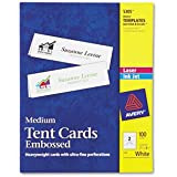Laser/Inkjet Tent Cards,Perforated,8-1/2 quot;x2-1/2 quot;,100/BX,WE