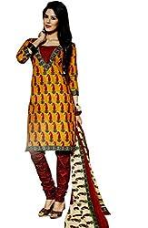 Kamal Women Cotton Dress Material (Kam1613 _Yellow)