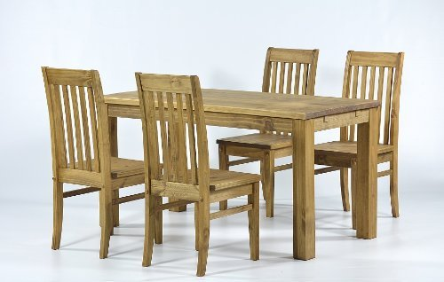 Table 150 x 73 + 4 x Chair Classic Pine Solid Tonal Brasil
