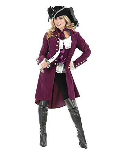 Womens Pirate Lady Vixen Jacket Plumberry