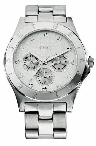 Jet Set J56364-642 - Reloj analógico de cuarzo para mujer con correa de acero inoxidable, color plateado