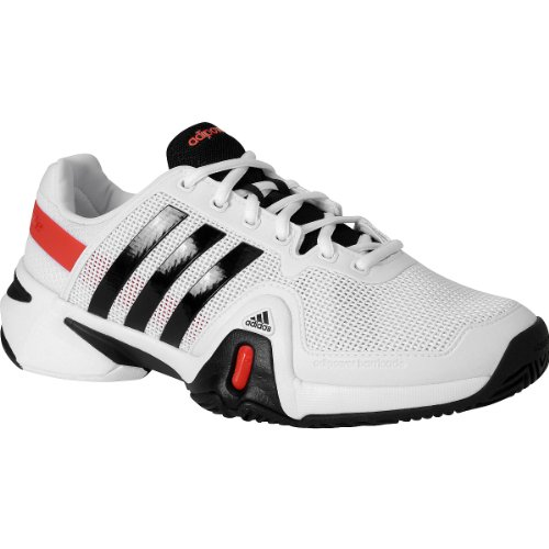 new arrival b0f37 7b953 adidas Men s adiPower Barricade 8 Tennis Shoes Size 10 5 White black red