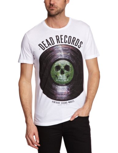 Sinstar Records Crew Neck Printed Men's T-Shirt White Large