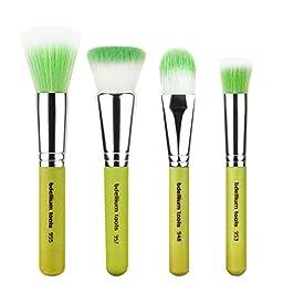 Bdellium Tools Professional Makeup Brush Green Bambu Series Foundation 4pc. Brush Set