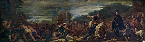giordano-luca-felipe-ii-con-sus-arquitectos-inspecciona-las-obras-de-el-escorial-ca-1692-oil-paintin