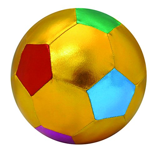 "Y'All Ball Outdoor/Indoor Gold & Multicolored 6"" Soccer Ball - 1"