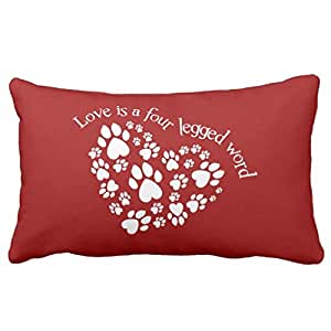 LoiiKien Love Is A Four Legged Word Throw Pillow Cover 16