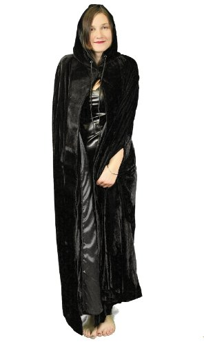 Velvet Hooded Full Length Cape