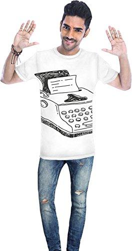 Doodle typewriter Unisex T-shirt X-Large