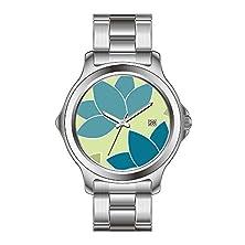 buy Ksd Custom Gift Watch Women'S Fashion Japanese Quartz Date Stainless Steel Bracelet Wrist Watch Blue Lotus Wrist Watch