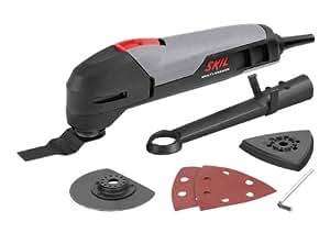 Skil Outil oscillant multifonctions 1470 200W avec 2 feuilles abrasives, accessoires de ponçage, 2 lames F0151470AA
