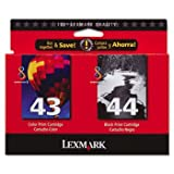 18Y0372 Ink, 500 Page-Yield, 2/Pack, Black; Tri-Color by LEXMARK (Catalog Category: Computer/Supplies & Data Storage / Printer Supplies/Accessories)