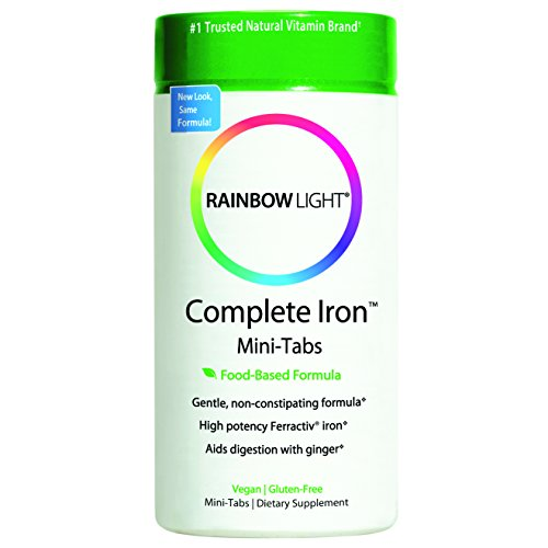 Rainbow Light Complete Iron System Food-Grown Iron Supplement Tablets  60 Count Bottle