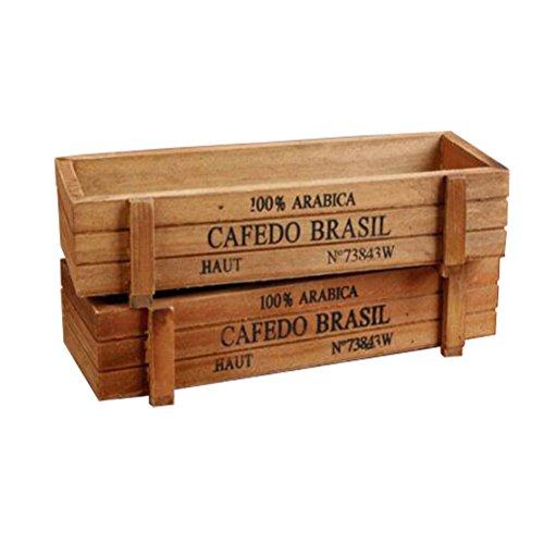 amgateeu-2-pcs-rustic-rectangular-wooden-planter-plant-container-box