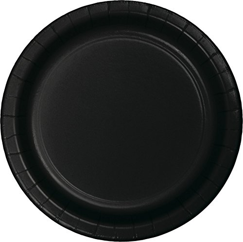 Creative Converting Value Pack Paper Luncheon Plates, Black Velvet, 75-Count