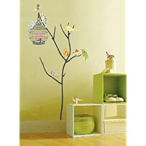 Easy Instant Wall Decorations Stickers - Birds in Tree
