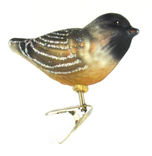 Image of Old World Christmas Cherry Chickadee Ornament