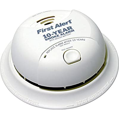 BRK SA350B - Smoke Alarm - Dual Ionization Sensor - Detects Flaming Fires - Battery Operated - Sealed Lithium Battery