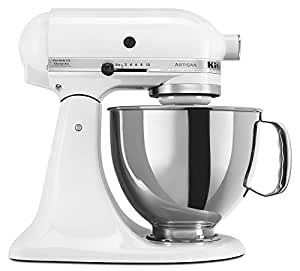 KitchenAid KSM150PSWH Artisan 5-Quart Stand Mixer, White